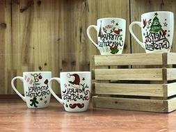 All For You X978 Christmas New Bone China Mug with Christmas
