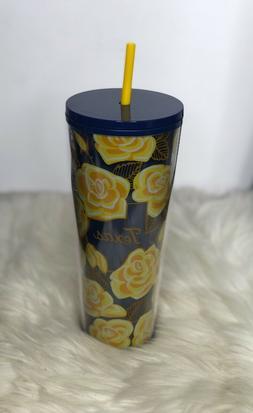 Starbucks Yellow Rose of TEXAS Tumbler Mug Venti 24oz Local