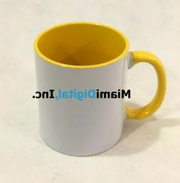 Yellow Sublimation Mugs 11oz Grade A Mix and Match any color
