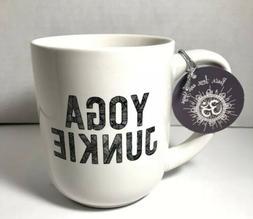 "10 Strawberry Street ""YOGA JUNKIE"" Coffee Mug NWT"