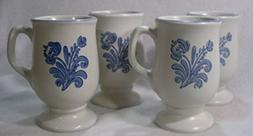 Pfaltzgraff Yorktowne Pedestal Mugs, Set of 4
