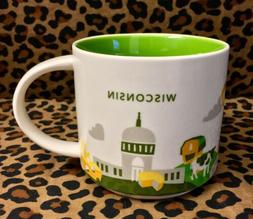 Starbucks You Are Here Collection Mug Wisconsin Dairyland Ch