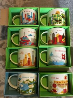 Starbucks you are here mugs - ALL New in Box