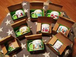 Starbucks You Are Here Mugs Lot Of 9 Boston D.C. Twin Cities
