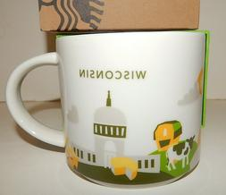 STARBUCKS You Are Here YAH WISCONSIN 14 oz Coffee Tea Mug NE