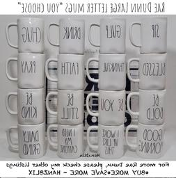 """RAE DUNN """"YOU CHOOSE"""" MUGS *SAVE ON SHIPPING* LARGE LETTER N"""