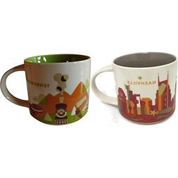 Starbucks You Are Here Nashville & Tennessee Coffee Mug Set